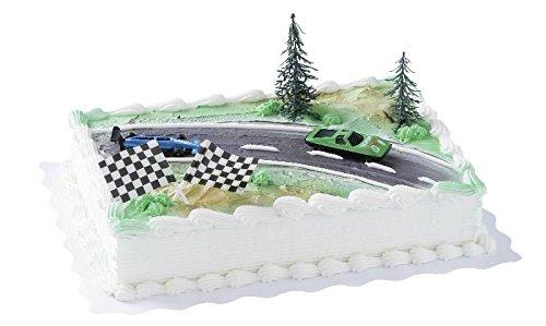 cake-company-torten-figur-mit-2-renn-autos-nascar-torten-deko-set-mit-2-fahnen-2-tannen-aus-kunststo