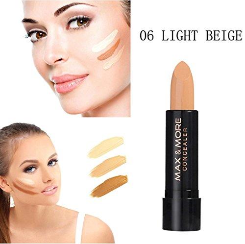 Amuster Bâton de base anticernes crémeux Highlight Contouring outil cosmétique de maquillage pour le visage Concealer Beauté Hydratant Outils de maquillage (Noir 6)