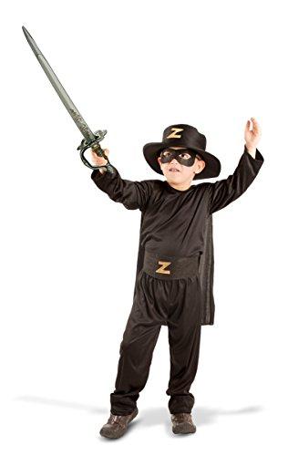 Seiler24 Zorro Kostüm für Kinder 6-8 Jahre Karneval Halloween