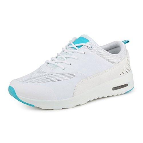 best-boots Unisex Damen Sneaker Fitness Laufschuhe Turnschuhe Runners Weiß
