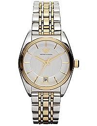 Emporio Armani AR0380 - Reloj para mujeres, correa de acero inoxidable