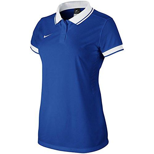 Nike Laser II Maillot de football à manches courtes pour femme Multicolore - Bleu roi/blanc