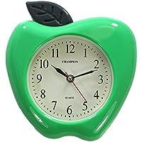 Orologio da parete, al quarzo, motivo: mela verde 3D