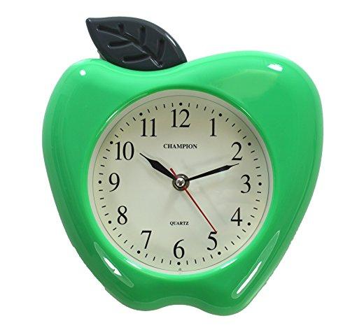 Orologio da parete, al quarzo, motivo: mela verde (Quarzo Verde)