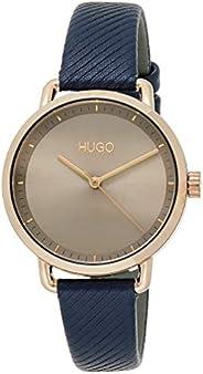 Hugo Boss Women's Grey Dial Blue Leather Watch - 154