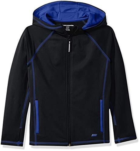 Amazon Essentials Full-Zip Active Jacket Jacke, Schwarz (Black), 100 cm (Herstellergröße:4T) 4t Jacke