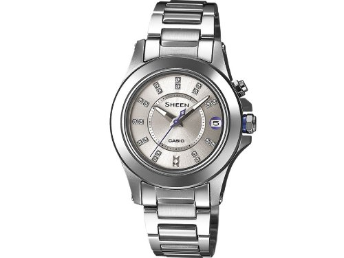 Casio XS women's analogue watch, quartz, stainless steel, SHE-4509D-7AER