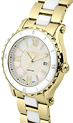Roamer AEU980 4823 PE - Reloj de Cuarzo para Mujeres (con Esfera nácar y Corea de Acero Inoxidable), Bicolor de Roamer
