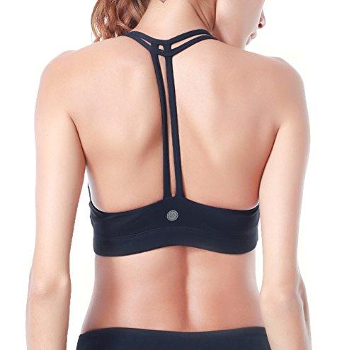 Queenie Ke Damen Yoga Sport BH Gepolstert T-Rücken (Freizeit-komfort-bh)