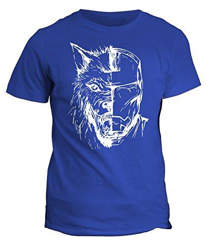 Tshirt Iron Man - Wolf Stark Jon Snow - Game of Thrones - in cotone by Fashwork Blu