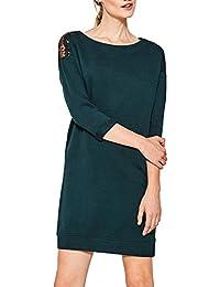 Esprit Women's Women's Navy Sweatshirt Dress With Sequins 100% Cotton