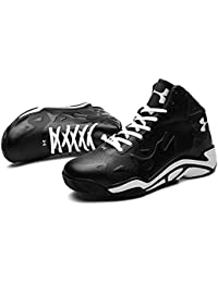 51fdaae5fe02b7 Mr.LQ Basketball Shoes Mans Synthetic Leather 3D Fashion Relief Sports  Wear-Resistant Non