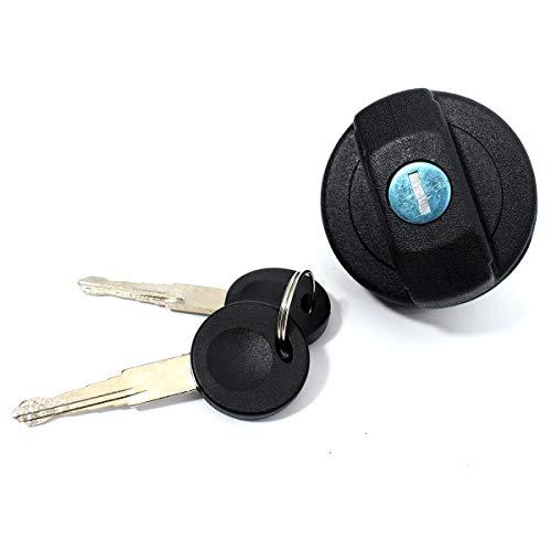 Cache-bouchon de réservoir essence essence diesel noir + 2 clés