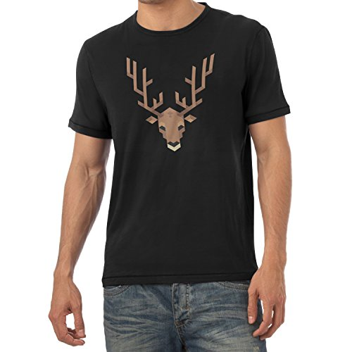 TEXLAB - Simple Stag - Herren T-Shirt Schwarz