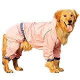 Gulunmun Impermeabili per Cani Cappotto da Pioggia per Cuccioli all'aperto con Cappuccio Giacche Impermeabili Impermeabile Riflettente per Cani Abbigliamento per Gatti