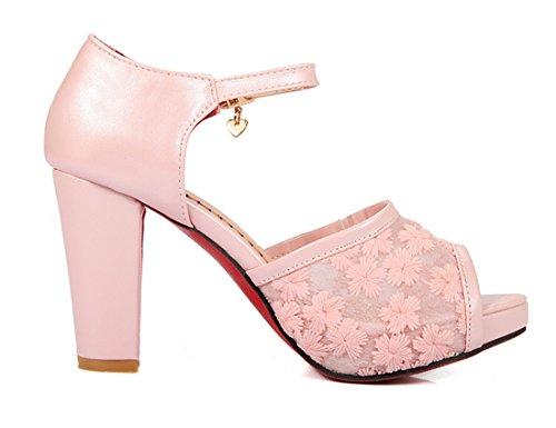 dc90e103b9c4b YE Damen Elegant High Heels Peep Toe Sandalen Plateau Pumps mit ...