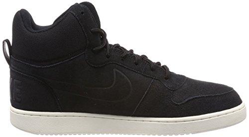 Nike Herren Court Borough Mid Premium Hohe Sneaker Schwarz (Black/Black-Sail)