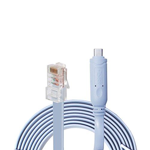 VILICONTY FTDI USB zu RJ45 Cisco Konsolenkabel (1 Stück, USBC Konsolenkabel)