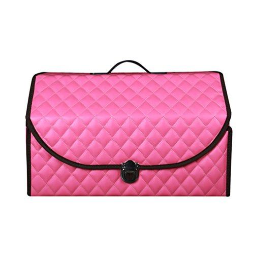 Dexinx Stilvoll Auto Kofferraumtasche Wasserdicht Auto Finishing Box Organizer Aufbewahrungsbox, Auto Supplies Pink M