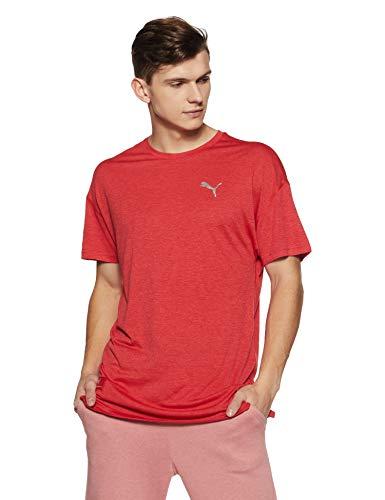 Puma Herren Energy SS Tee T-Shirt, Ribbon Red Heather, L -