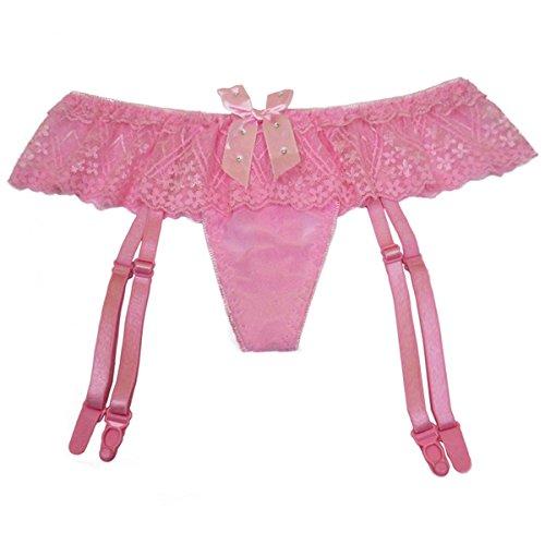 Dissa 2er Pack Z2118 Damen Panties Strings Tanga Rosa