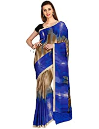 CLASSICATE From the house of The Chennai Silks Women's Soft Crepe Saree (CCMYSY7250, Multicolour, Free Size)