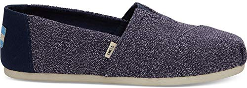 TOMS Classic Navy Terry Cloth Womens Espadrilles Slipons Shoes