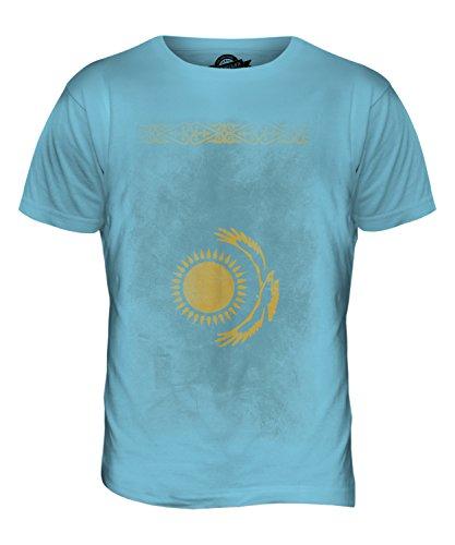 CandyMix Kasachstan Verblichen Flagge Herren T Shirt Himmelblau