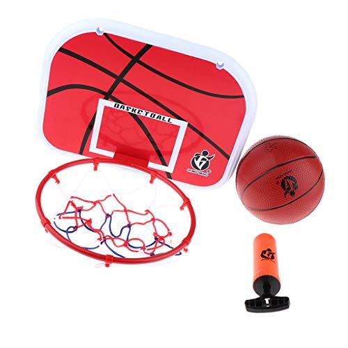 F Fityle Basketballkorb Kinder Basketball Korb für Outdoor und Indoor Zimmer, mit Ring Netz und Befestigungsschrauben, Durchmesser 23 cm