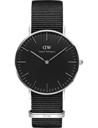 Daniel Wellington Unisex-Armbanduhr CLASSIC BLACK Analog Quarz Textil DW00100151