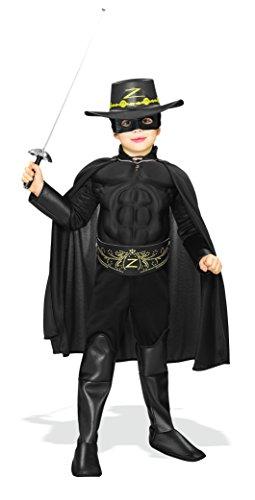 Für Kostüm Jungen Zorro (Zorro - Kinderkostüm mit Muskeln,)