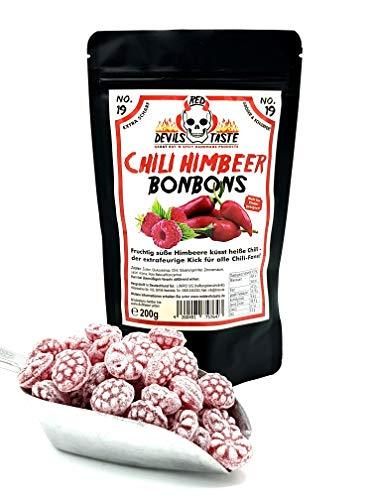 Preisvergleich Produktbild Himbeer Bonbon extra scharf - 200g - Hotskala: 9