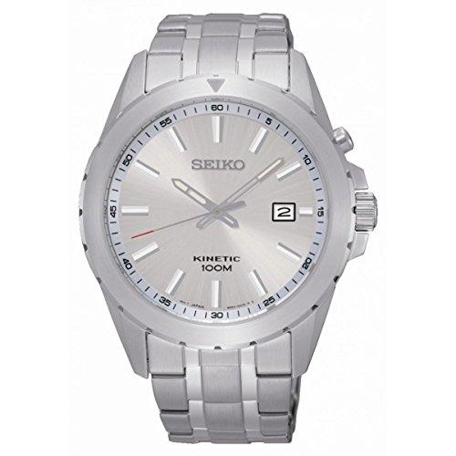 Seiko–ska693p1–Zeigt Herren–Kinetic 1076312Analog Armband Stahl Grau