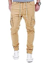 Chino Herren Hose Cargo Stoffhose Sommerhose Jeans Freizeithose Vintage Army