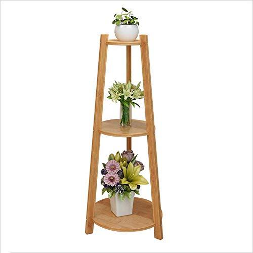 LLYU type de plancher porte-escalier jardinière en bois à l'intérieur rack pot plante multi-couche