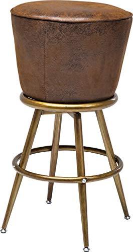 Kare Barhocker Lady Rock Vintage, runder Designbarstuhl mit Metallfüßen im Retrolook, gold-braun, (H/B/T) 74x48x48cm
