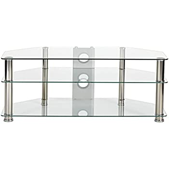 fd1dc783346d MMT Clear Glass Universal TV Stand 120cm Suitable for 42