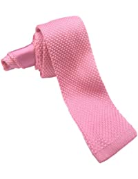 New Sendmart Plain Knitted Slim Ties - Various colours, Baby Pink, Size