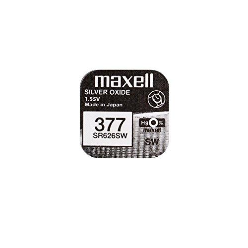 MAXELL 377 Uhrenbatterie SR626SW Knopfzelle (Uhrenbatterie Sr626sw 377)