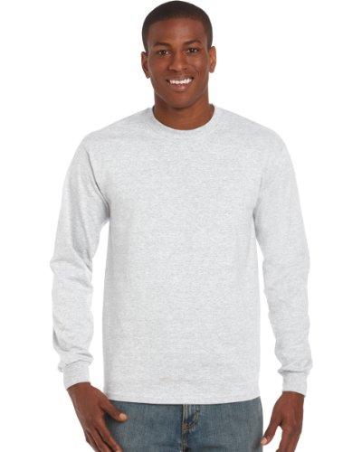 Gildan Ultra T-Shirt mit Rundausschnitt für Männer (2XL) (Aschgrau) XXL,Aschgrau (Langarm T-shirt 5)
