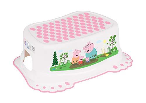 Taburete de paso, seguro, antideslizante, para bebé, niños, para entrenamiento, con capacidad rosa Peppa Pig Pink
