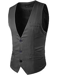 JOLIME Elegante Chalecos Hombre Vestir Casual Negocio Boda Slim Fit Traje  Blazers Sin Mangas 93581909aa79