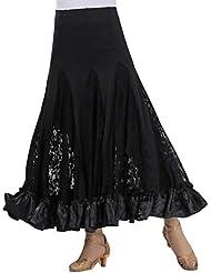 6ee78626d8 Mujer Profesional Falda de Encaje Grande Vestido de Baile De Flamenco Tango  Salsa Latin