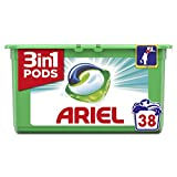 Ariel 3-in-1 Pods Touch of Febreze Washing Capsules, Cleans, Lifts Stains, Brightens, 38 Washes