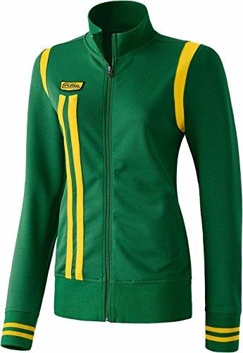 erima Damen Jacke Retro Jacket, Smaragd/Gelb, 36, 207407