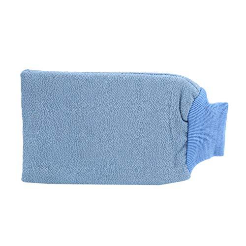 ZALING Körperreinigung Peeling Reiben Handtuchhandschuhe Waschlappen für Erwachsene Blau -