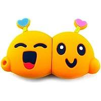 818-shop no16900040002 Hi-Speed 2.0 USB PenDrive 2GB Lovers cuore 3D arancione