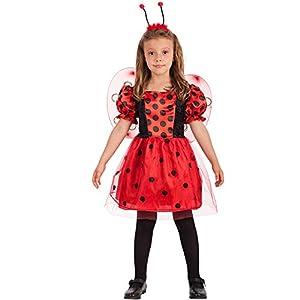 Carnival Toys-Disfraz de mariquita para niña para niños, multicolor, talla única, 66009