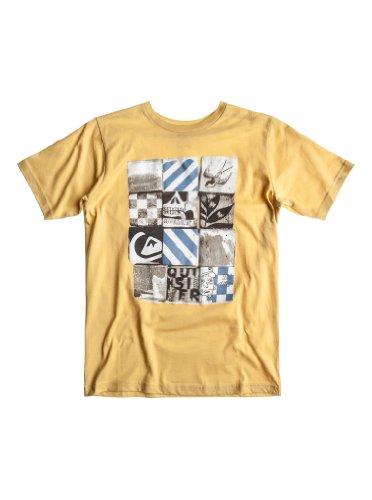 Quiksilver Basic Youth-Maglietta a maniche corte, da ragazzo rosso Tramonto T 10