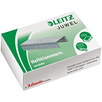 Inkl. 1000 P1 Heftklammern Nr. 8 metallic wei/ß Leitz 55470004 Kleine Heftzange 6//4